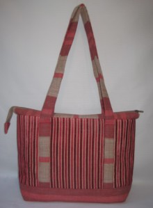 Zipped Shoulder Tote - Front view