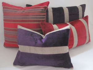 Osborne and Little  Du Barry Stripes in red and purple