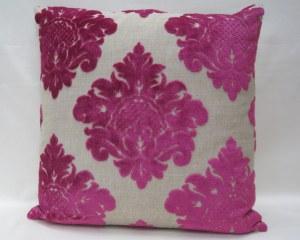 """Magenta Pink 20""""/ 50cm Square veneto velvet - damsk cushion cover"""