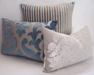 Osborne and Little mixed velvet cushion covers www.Mogirldesigns/etsy/com