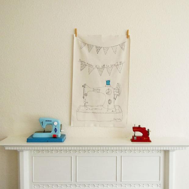 Poppy Treffry tea towel