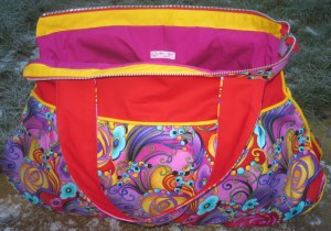 Weekend Carry All BOLD MODERN FLORAL red & yellow  002